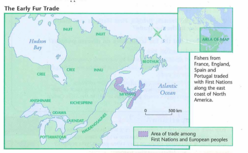Map Of Canada Fur Trade.5 Phases Of The Fur Trade Nightingales S News